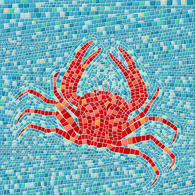 Mosaico de cangrejo rojo libre illustration