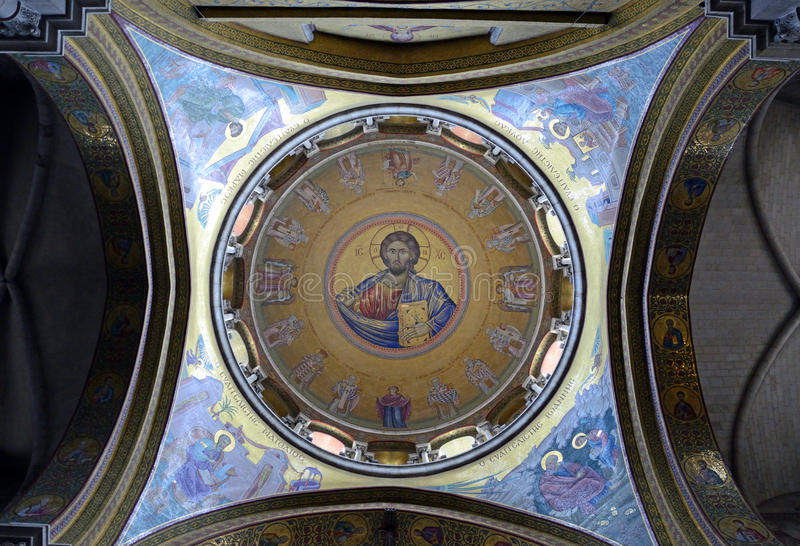 Mosaico de Christ Pantocrator imagens de stock royalty free