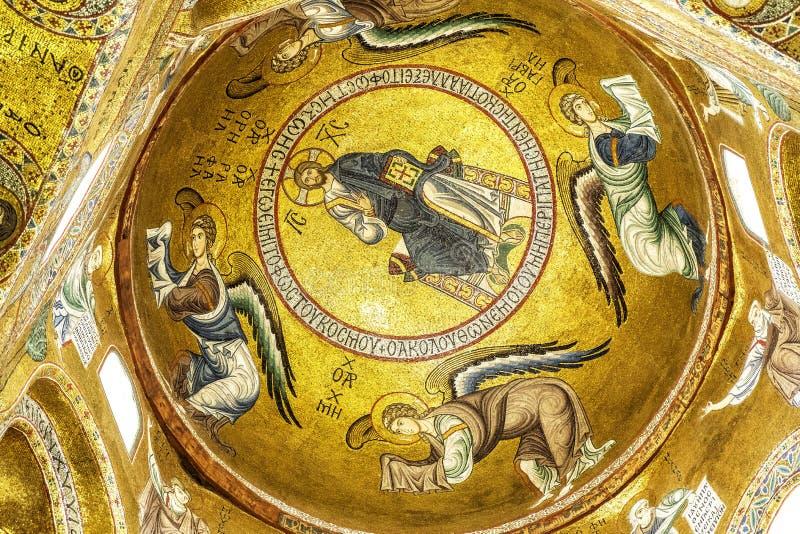 Mosaico de Cristo en Palermo foto de archivo libre de regalías