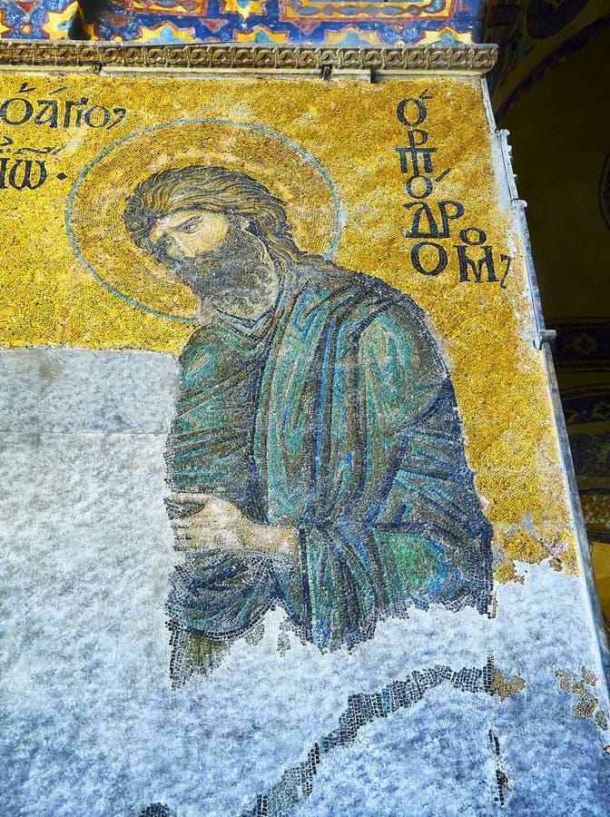 Mosaico de Deesis da mesquita de Hagia Sophia Istambul, Turquia fotos de stock royalty free
