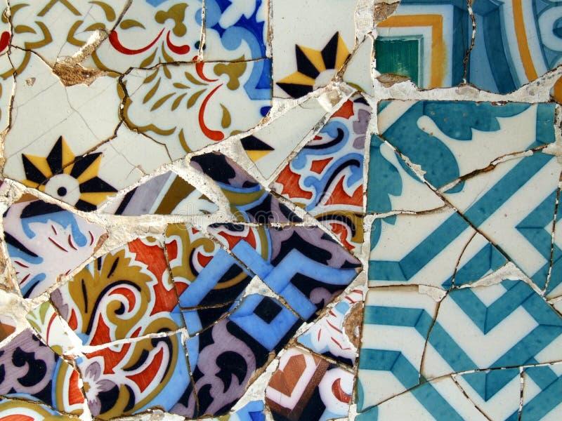 Mosaico de Gaudi imagens de stock