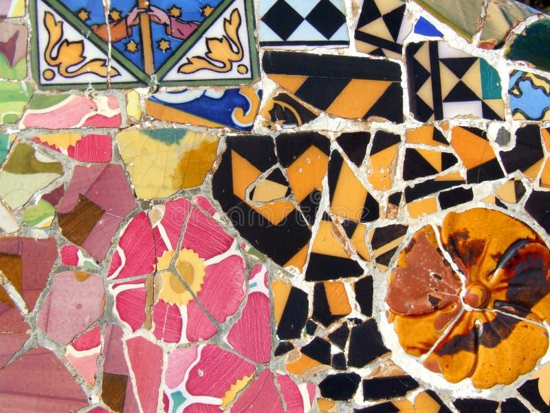 Mosaico de Gaudi em Barcelona fotografia de stock