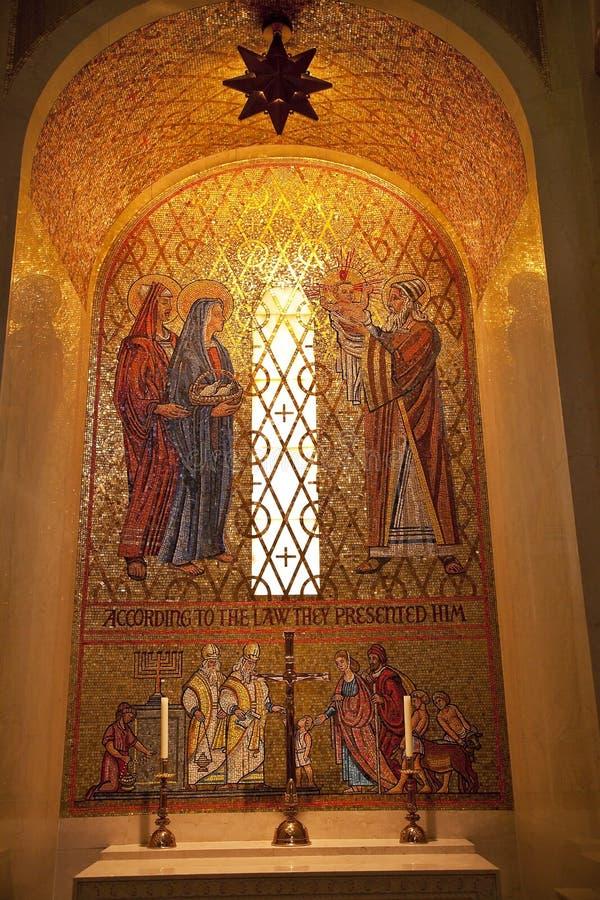 Mosaico de Jesús Maria José fotografía de archivo libre de regalías