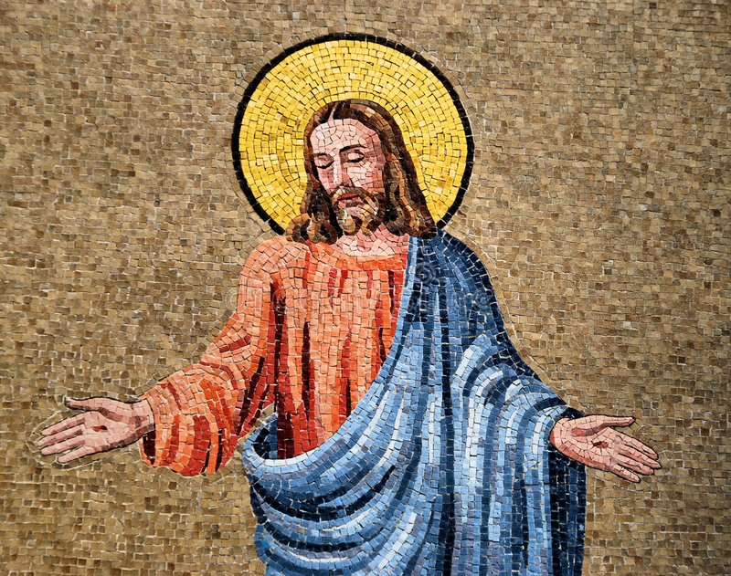 Mosaico de Jesus fotos de stock royalty free