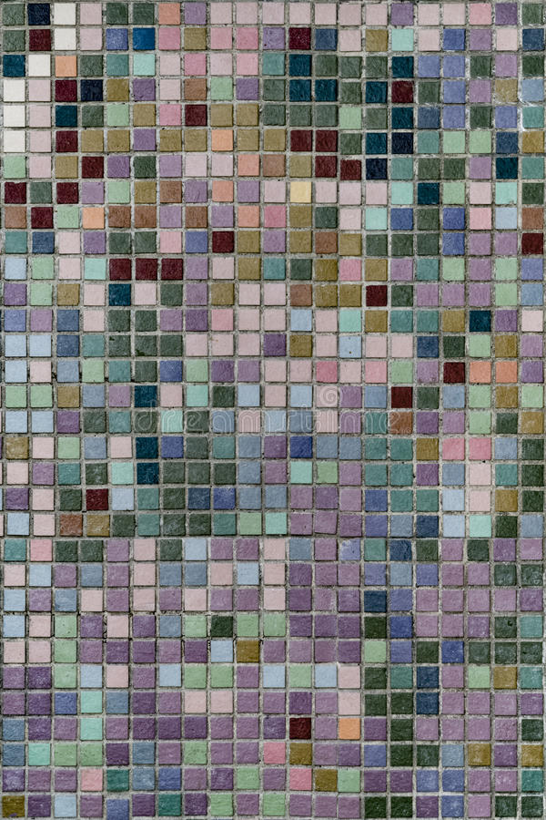 Mosaico de la pared de la teja fotos de archivo