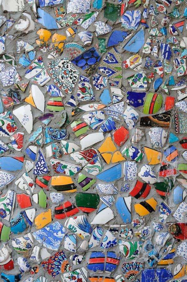 Mosaico de la porcelana imagenes de archivo