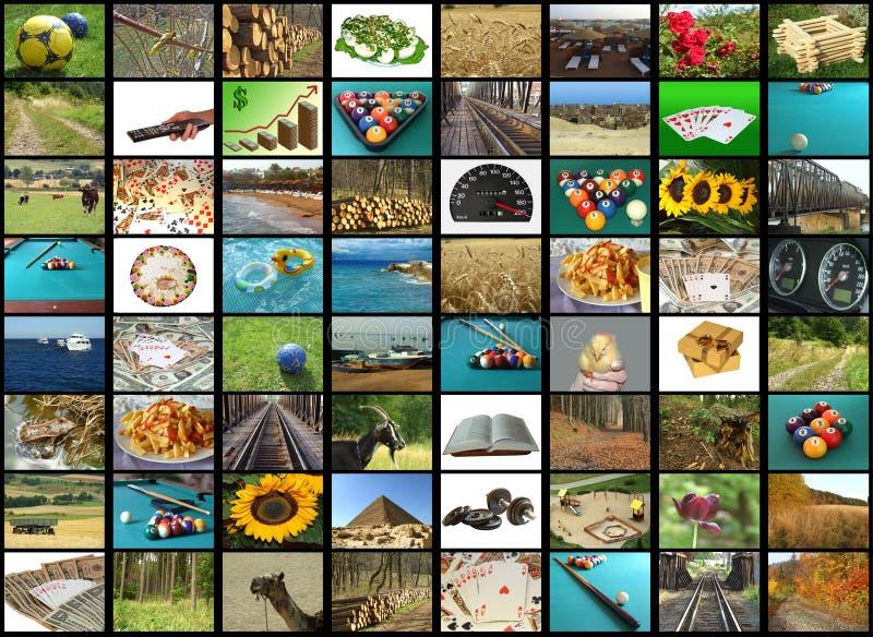 Download Mosaico de la TV imagen de archivo. Imagen de presentación - 7278741