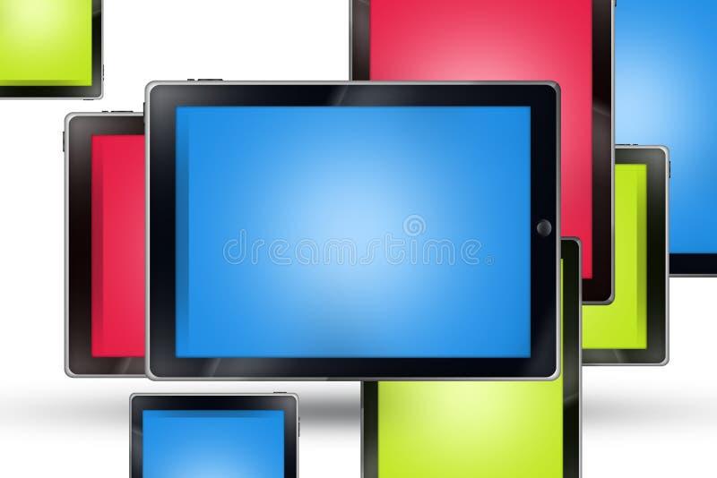 Mosaico de las tabletas ilustración del vector