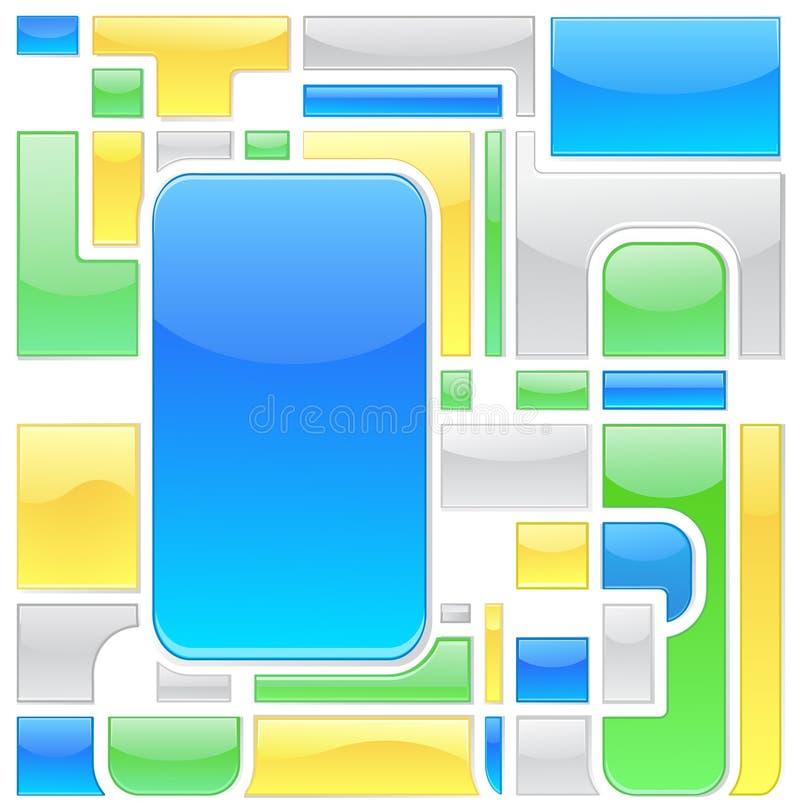 Mosaico de los botones stock de ilustración