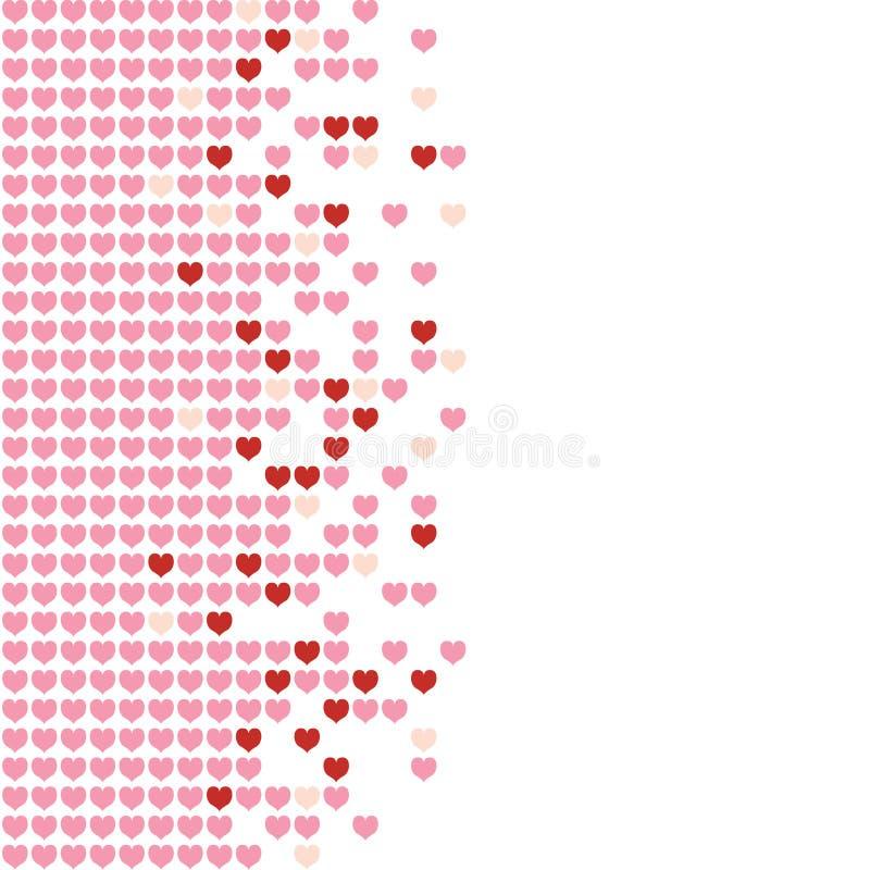 Mosaico de los corazones stock de ilustración