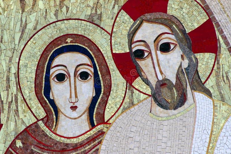 Mosaico de Lourdes fotografia de stock royalty free