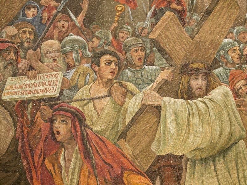 Mosaico de Lourdes photo stock