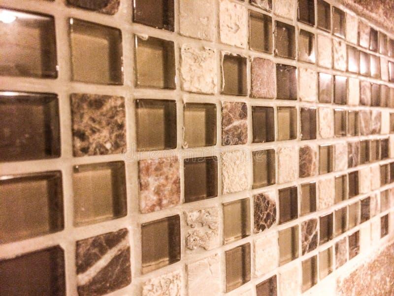 Mosaico de mármore de vidro da telha imagem de stock