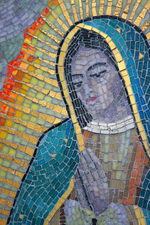 Mosaico de Mary de Virgin fotografia de stock