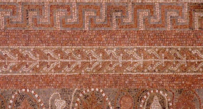 MOSAICO de MASADA no palácio do ` s de Herod, Massad, Israel fotografia de stock