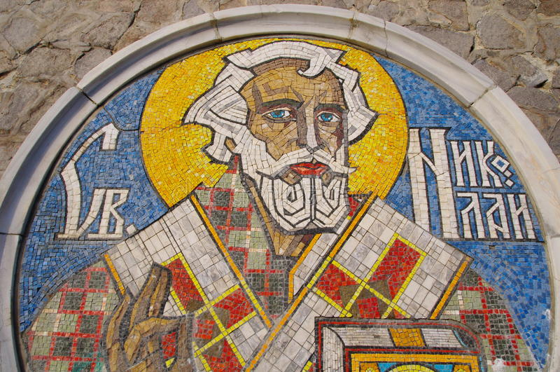 Mosaico de Nicholas de Saint foto de stock