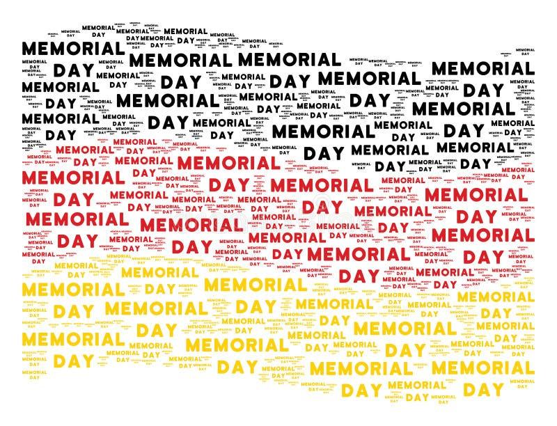 Mosaico de ondulação da bandeira de Alemanha de artigos do texto de Memorial Day ilustração do vetor