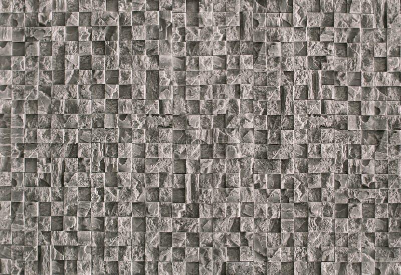 Mosaico de piedra texturizado hermoso para la reparación de la piedra natural gris fotos de archivo