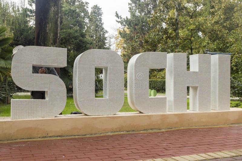 Mosaico de Sochi de la palabra fotografía de archivo