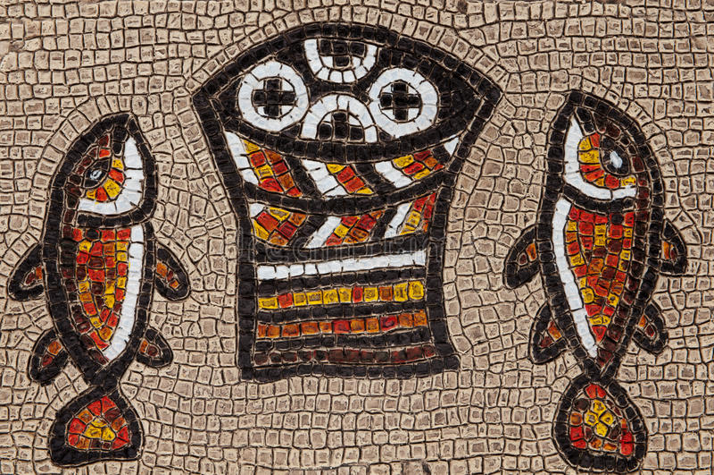 Mosaico de Tabgha fotografia de stock royalty free