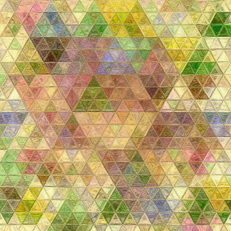 Mosaico de tri?ngulos coloridos en estilo moderno Modelo del fondo stock de ilustración
