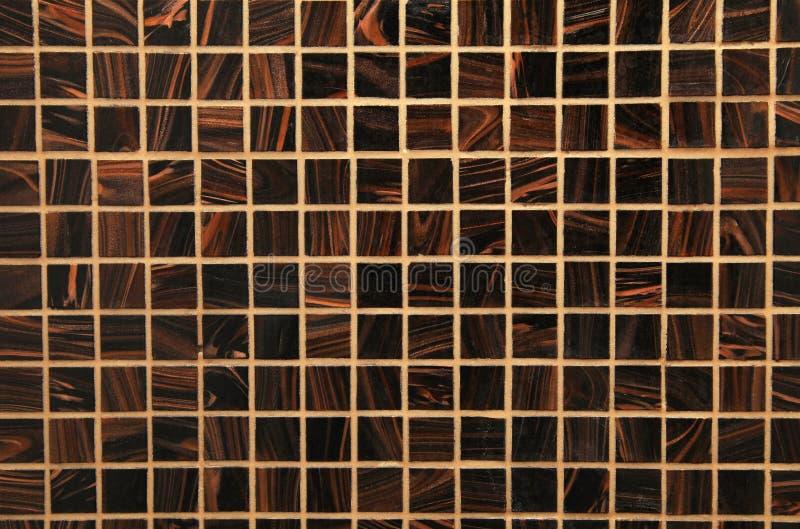 Mosaico de vidro brilhante marrom da mistura fotografia de stock