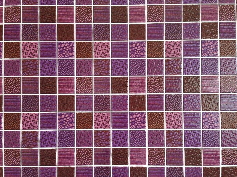 Mosaico de vidro roxo imagem de stock