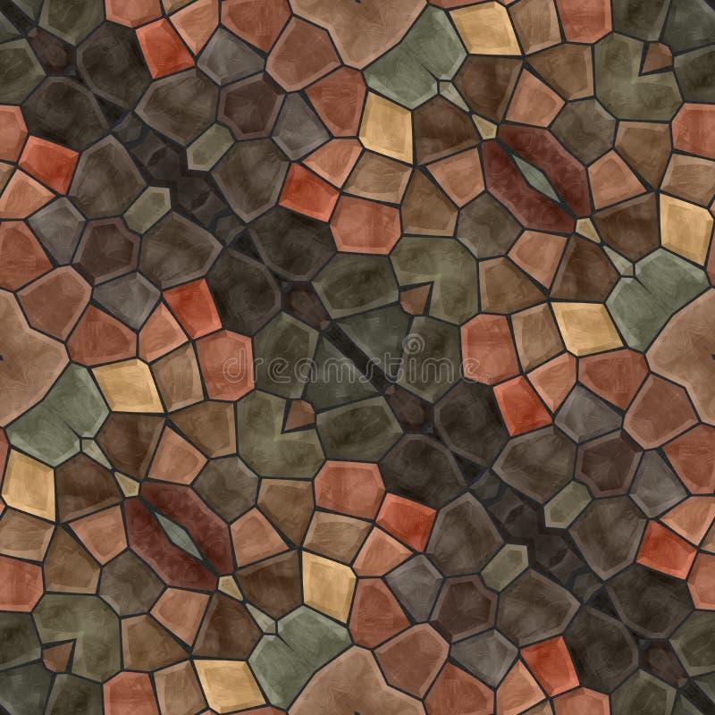 Mosaico decorativo capaz da telha abstrata no estilo retro ilustração stock