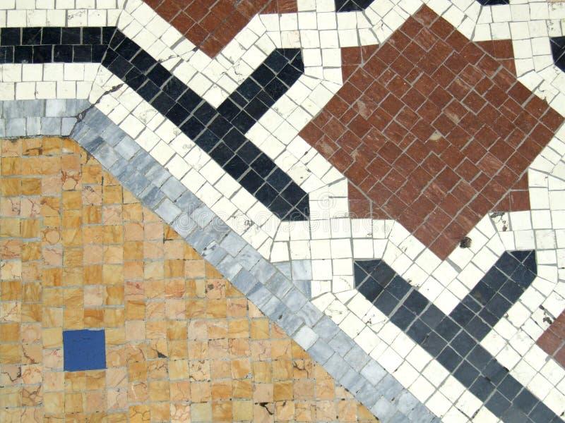 Mosaico decorativo do assoalho fotografia de stock royalty free
