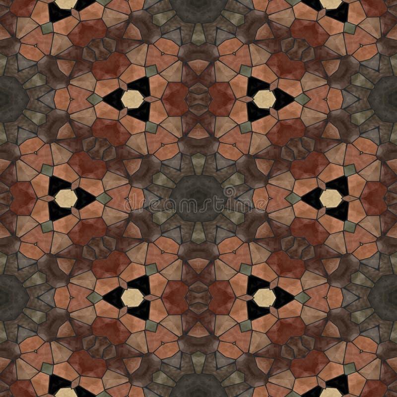 Mosaico decorativo do ocre marrom capaz abstrato da telha ilustração royalty free