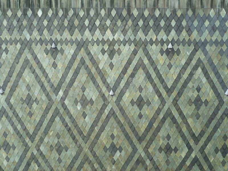 Mosaico dei rombi grigi delle pietre dell'ardesia fotografia stock