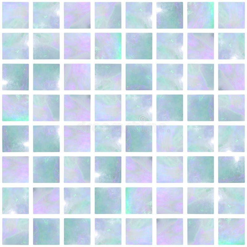Mosaico del ópalo azul inconsútil fotos de archivo libres de regalías