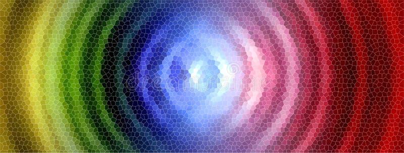 Mosaico del círculo del arco iris stock de ilustración