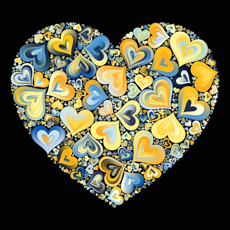 Mosaico del corazón foto de archivo
