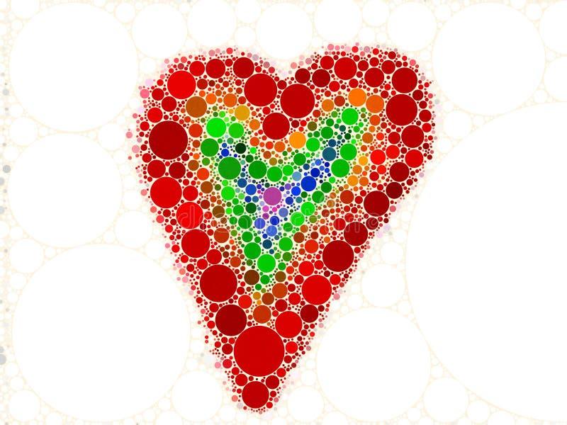 Mosaico del corazón del amor del arco iris libre illustration