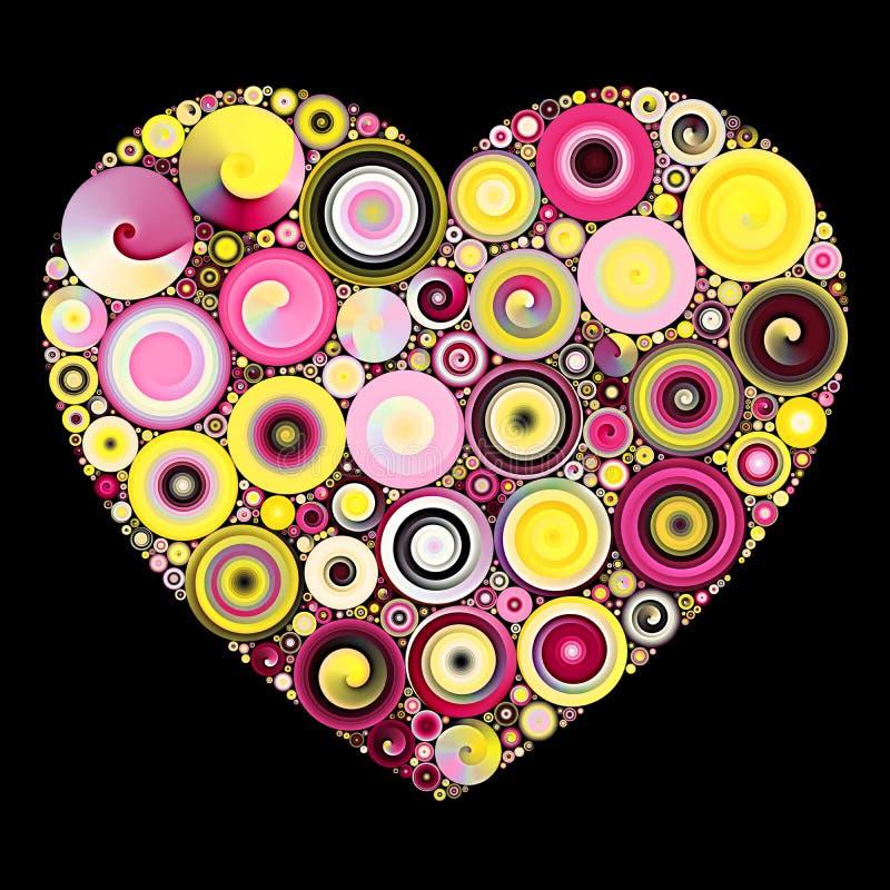 Mosaico del corazón de Quilling imagenes de archivo