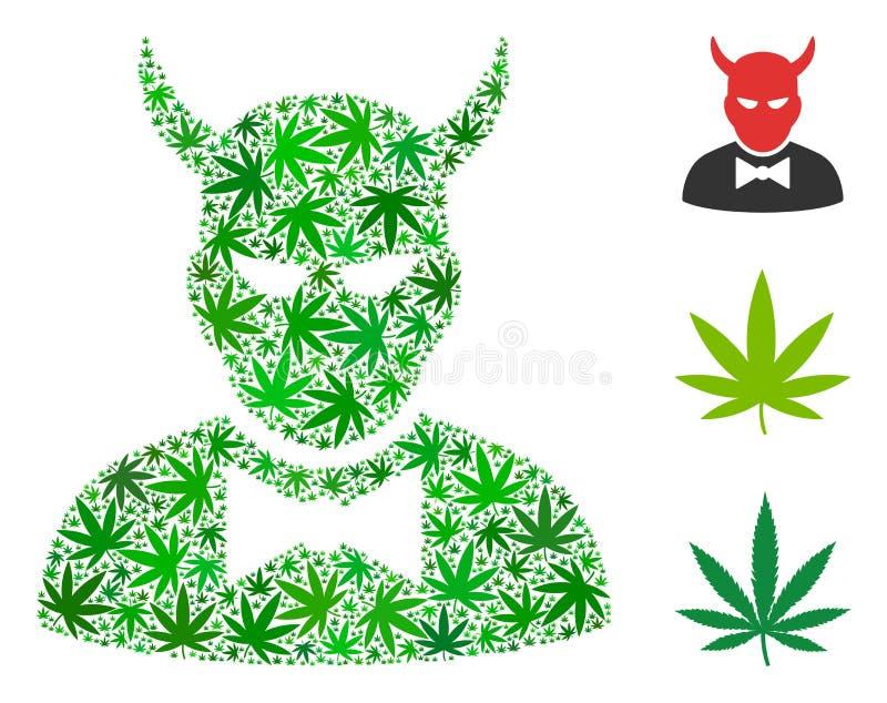 Mosaico del diablo del cáñamo libre illustration