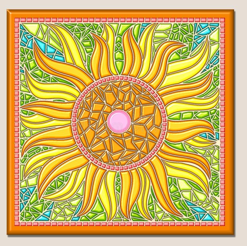 Mosaico del girasol ilustración del vector