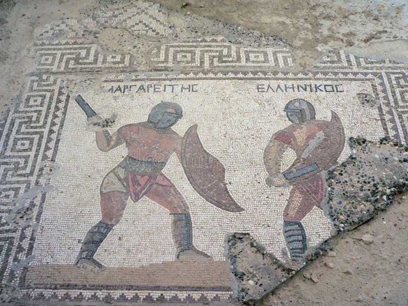 Mosaico del gladiador foto de archivo