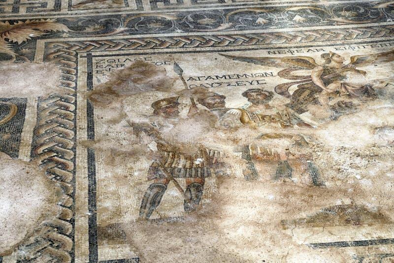 Mosaico del pavimento romano di Agamemnon immagini stock libere da diritti