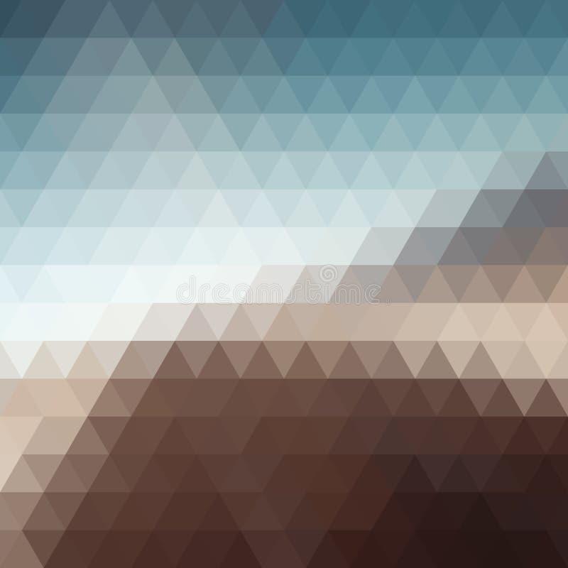 Mosaico del pixel del triángulo de Digitaces ilustración del vector