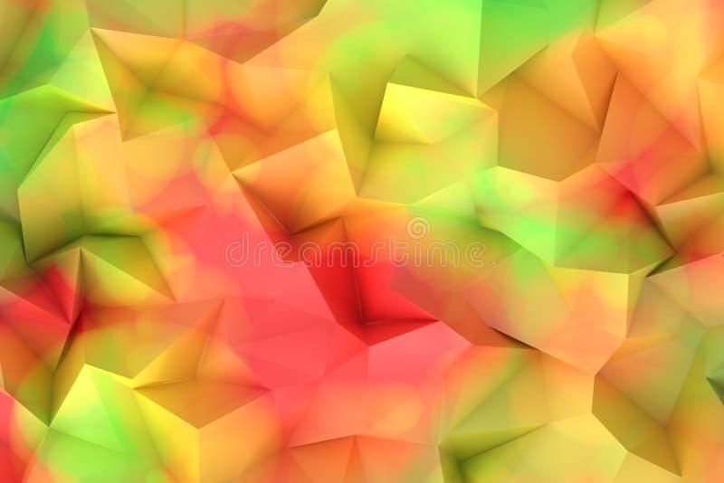 Mosaico del polígono stock de ilustración