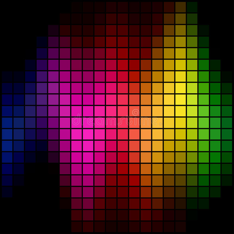 Mosaico del punto del espectro ilustración del vector