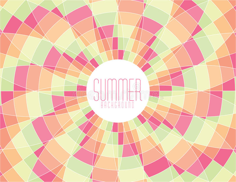 Mosaico del verano imágenes de archivo libres de regalías