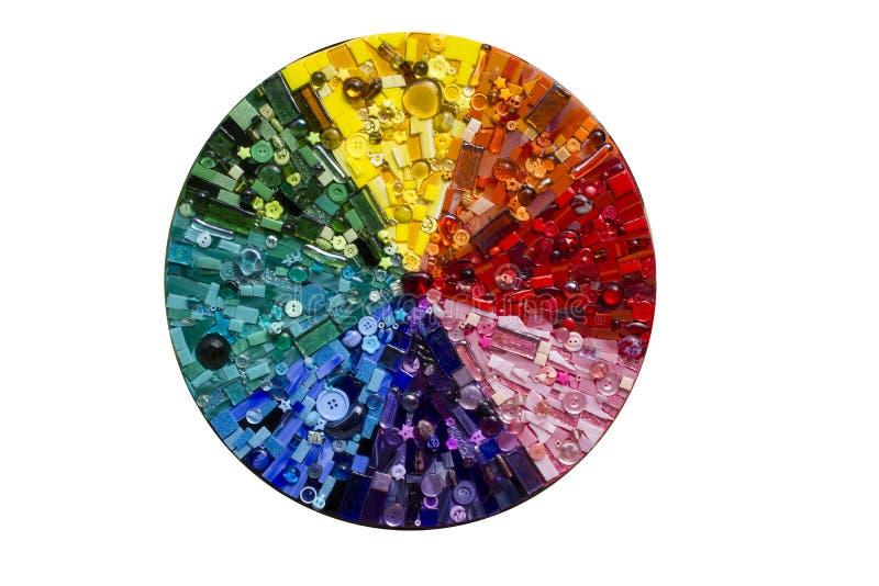 Mosaico dell'arcobaleno del cerchio fotografie stock