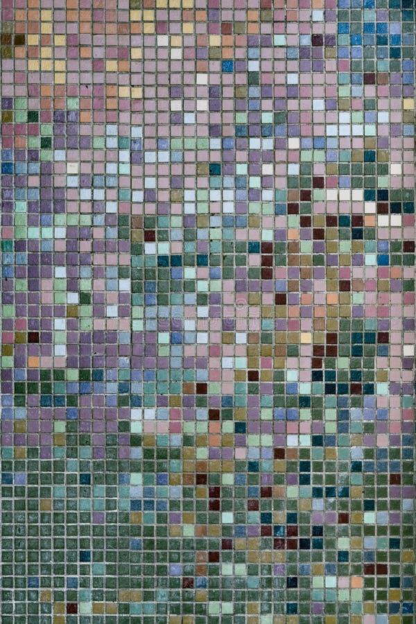 Mosaico della parete delle mattonelle fotografie stock libere da diritti