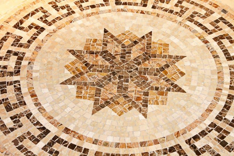 Mosaico della stella del pavimento fotografia stock