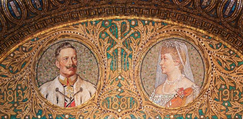 Mosaico di Kaiser Wilhelm Ii fotografia stock