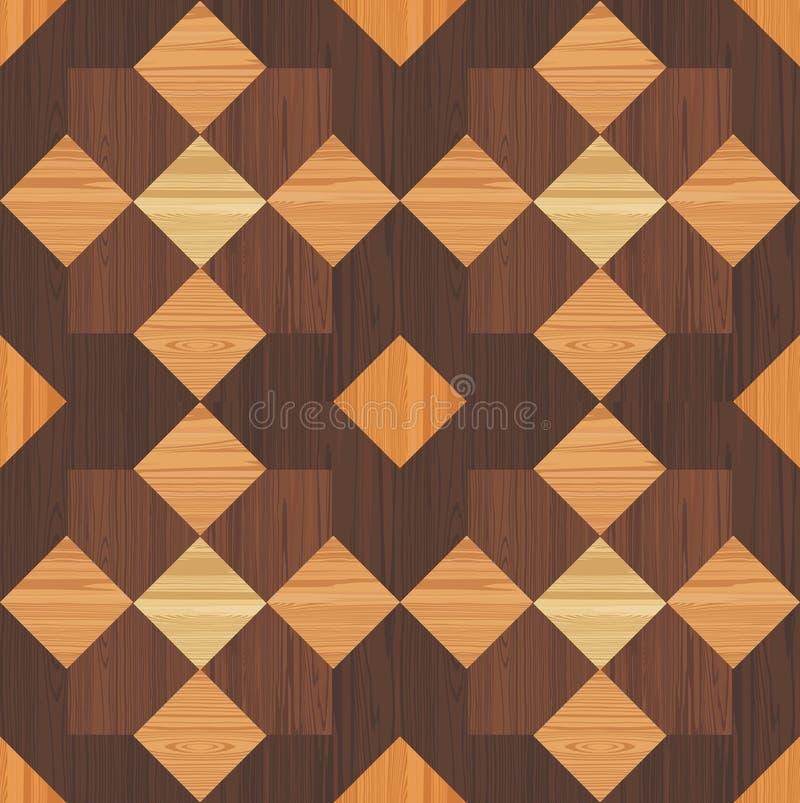 Mosaico di legno illustrazione vettoriale. Illustrazione di pino ...
