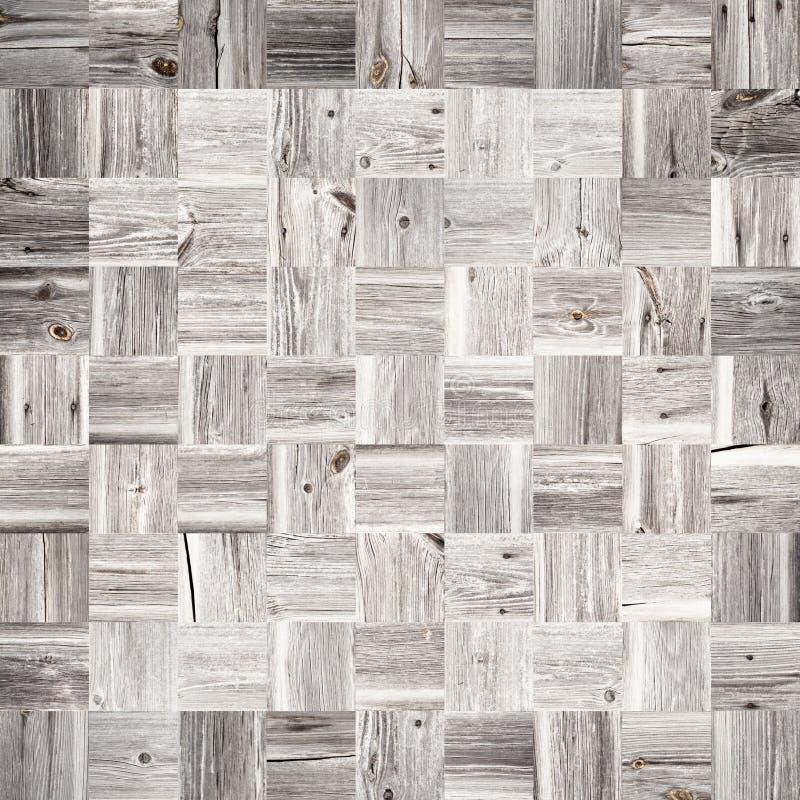 Mosaico di legno fatto di vecchie plance immagini stock libere da diritti